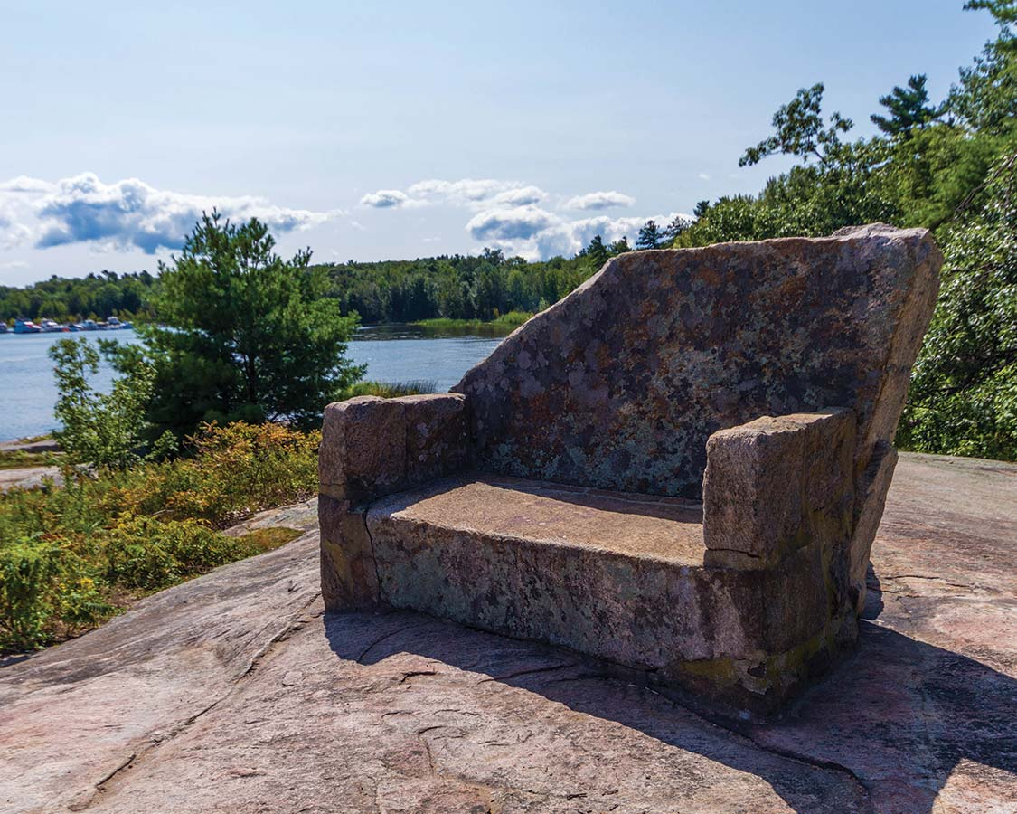Stone chair in Georgian Bay Islands National Park