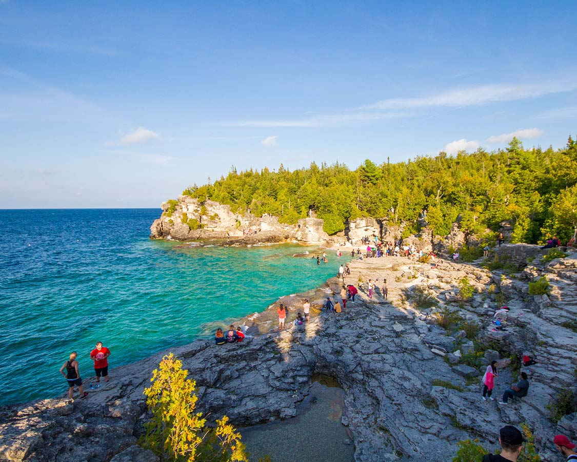 Bruce Peninsula National Park Grotto swimming