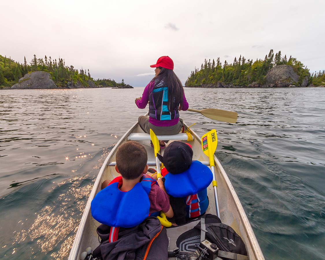 Canoeing in Bruce Peninsula National Park