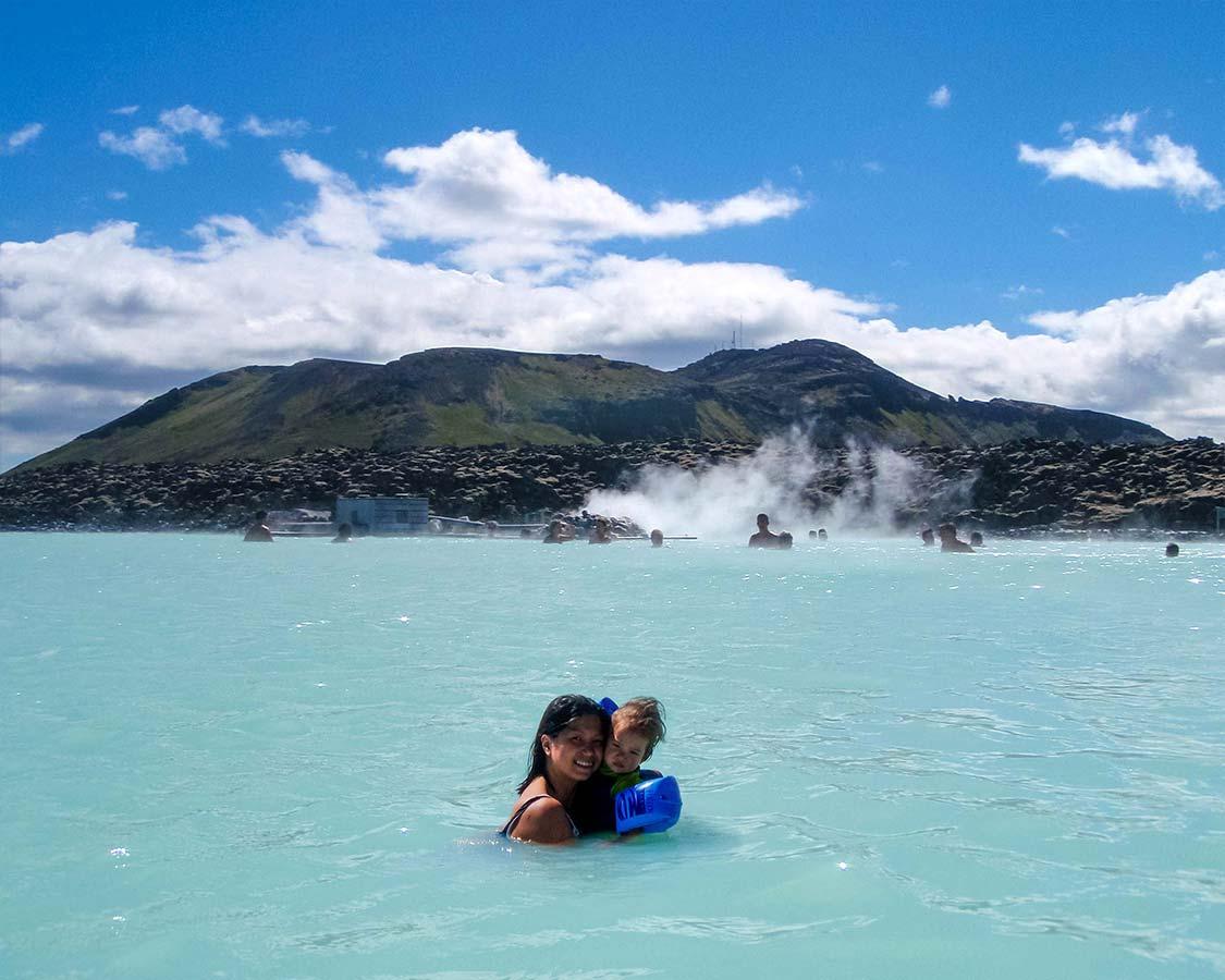 Iceland With Kids Blue Lagoon Geothermal Pool