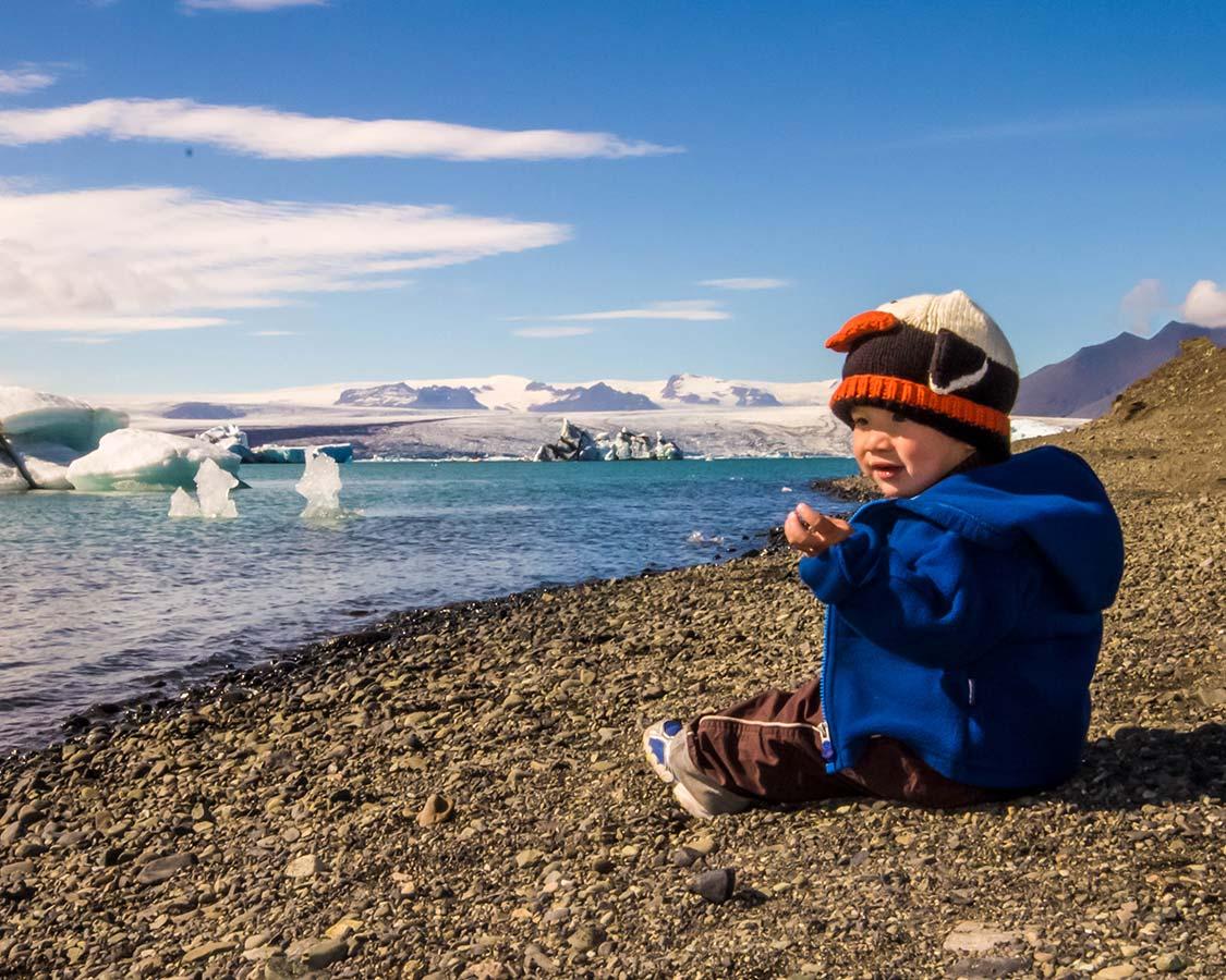 Iceland for kids Jokulsarlon Glacier Lagoon