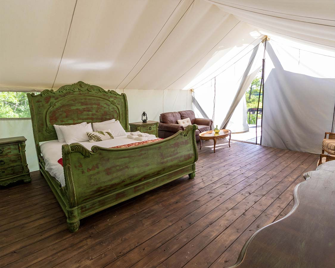 King Bed Glamping Prince Edward County