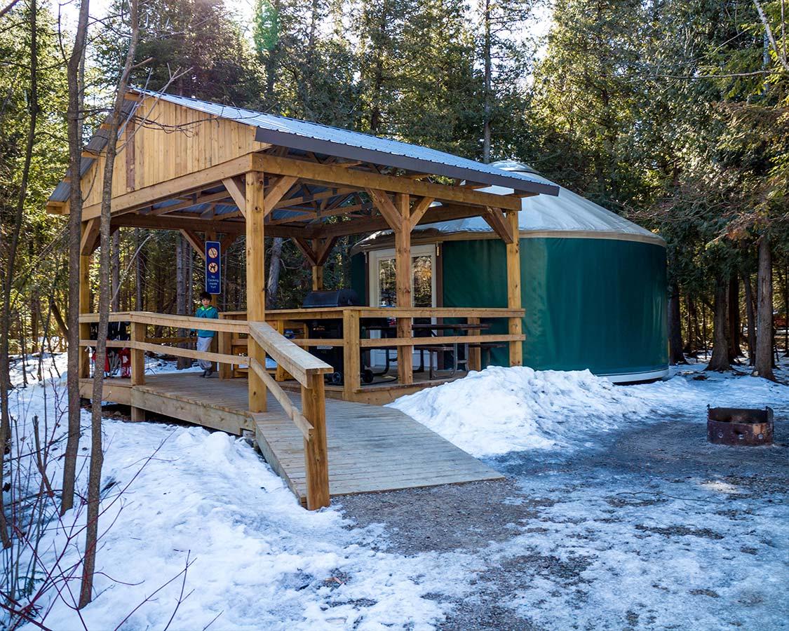 Yurt Camping in MacGregor Point Provincial Park