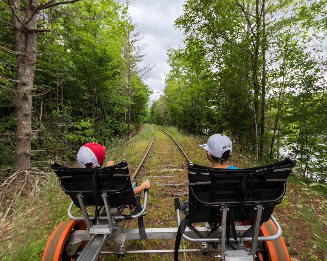 Things To Do in the Adirondacks - Revolution Rail with kids