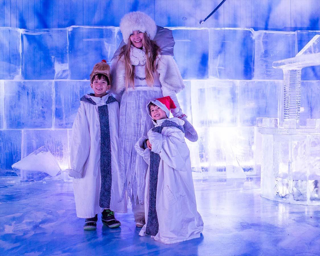 Christmas In Lapland Finland Ice Princess at SantaPark Rovaniemi