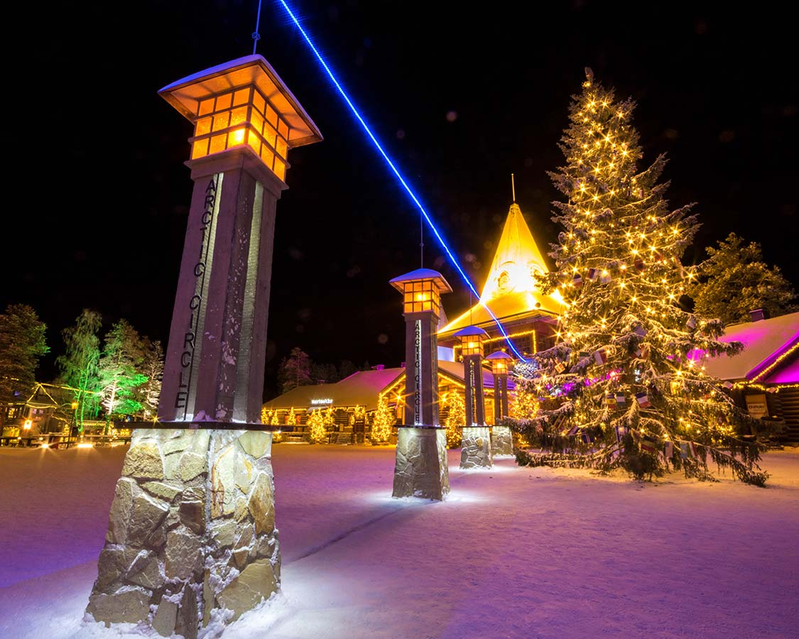 Christmas In Laplan Finland Santa Claus Holiday Village