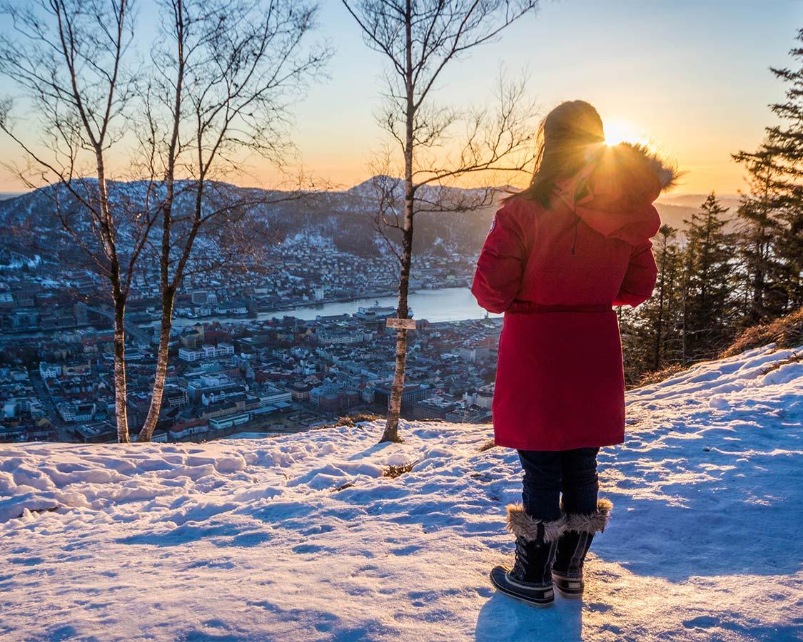 Norway in Winter Bergen Mountain