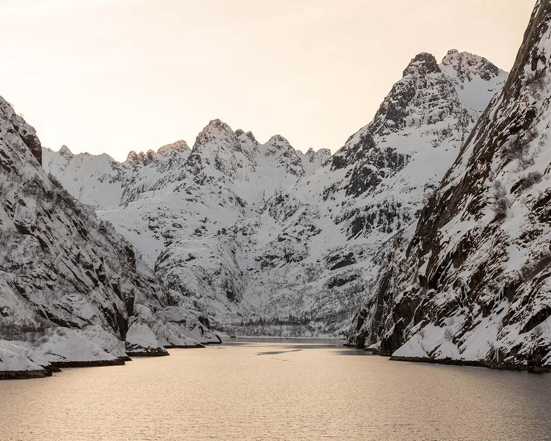 Norway in Winter Lofoten Islands Troll fjord