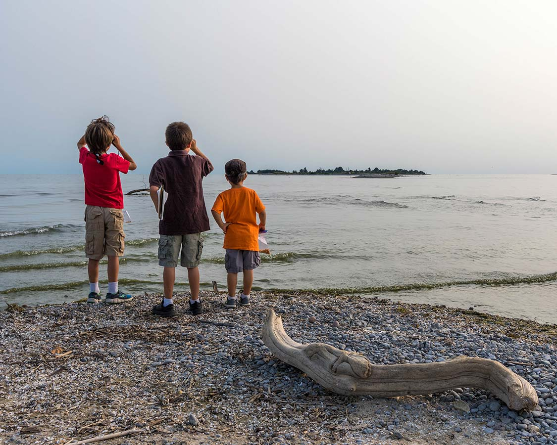 Kids at Presquile Provincial Park Ontario