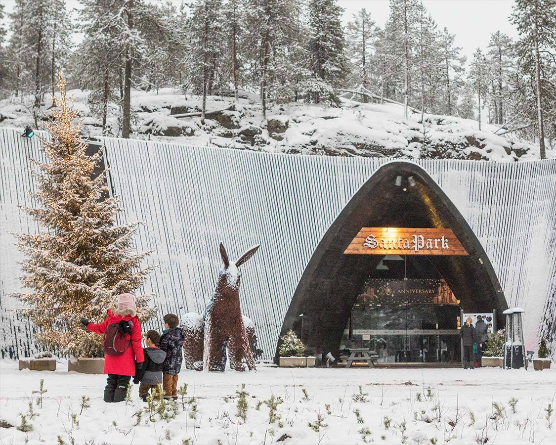 Entrance to Santa Park Lapland