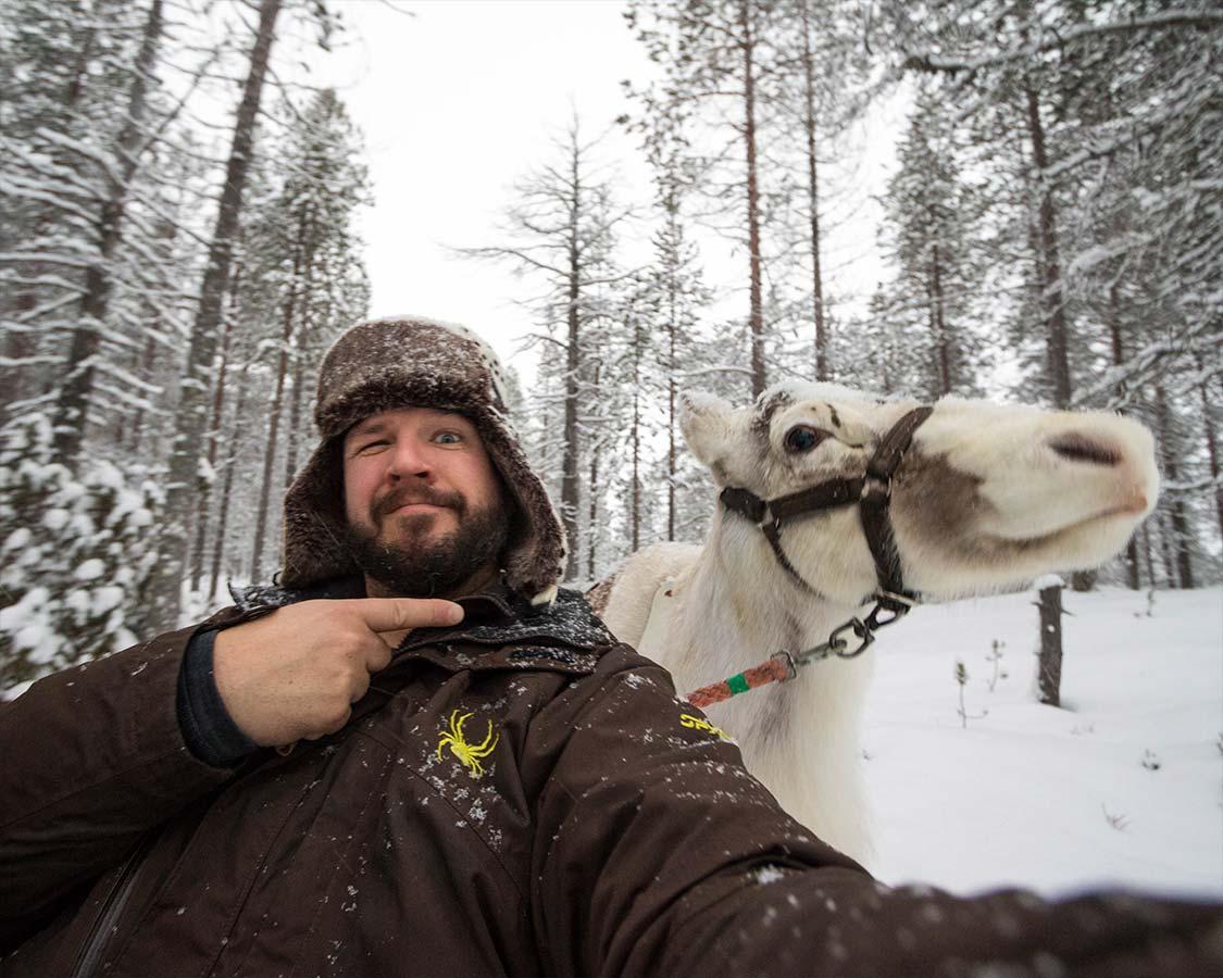 Inari Finland reindeer sleigh rides