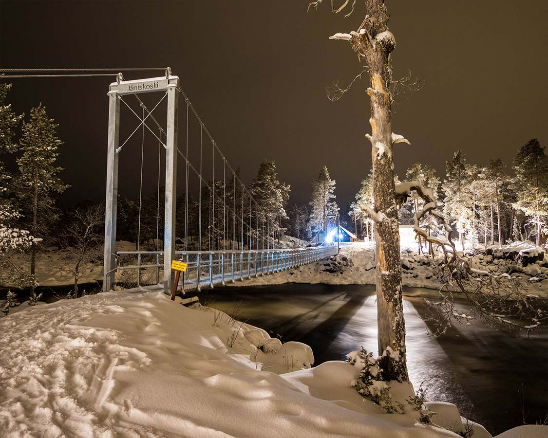 Janiskoski Bridge hiking trail Inari Finland