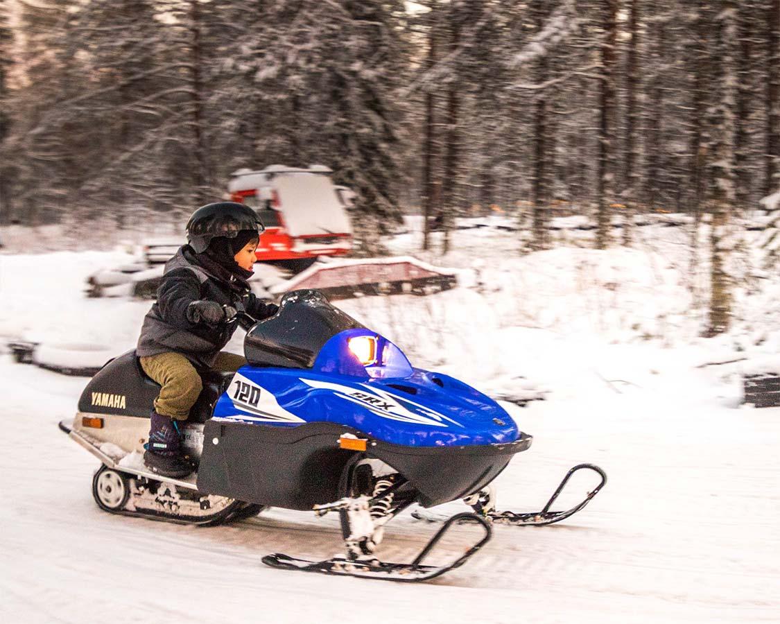 Lapland Santa Claus Village Arctic Snowmobile Park