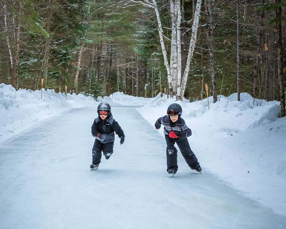 Children skating at Arrowhead Provincial Park