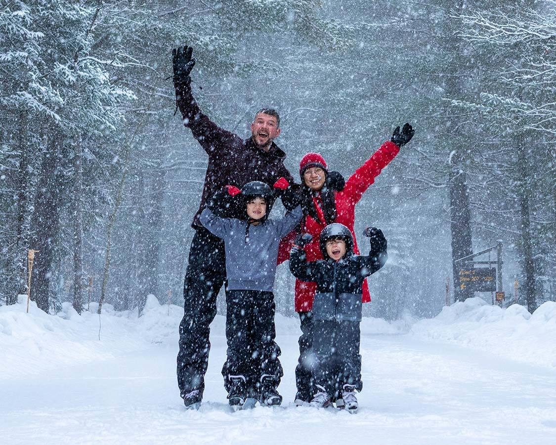 Arrowhead Provincial Park Winter Skating Trail