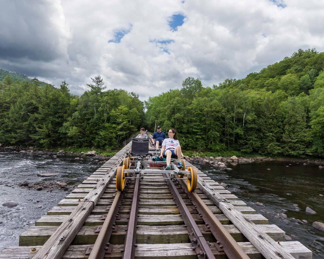 Tupper Lake New York North Creek Rail Biking