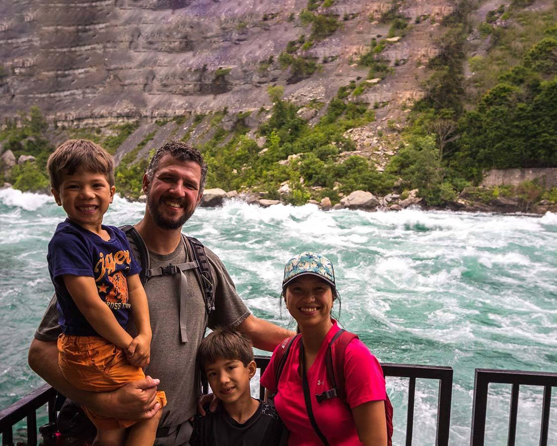 Kids in Niagara Falls White Water Walk