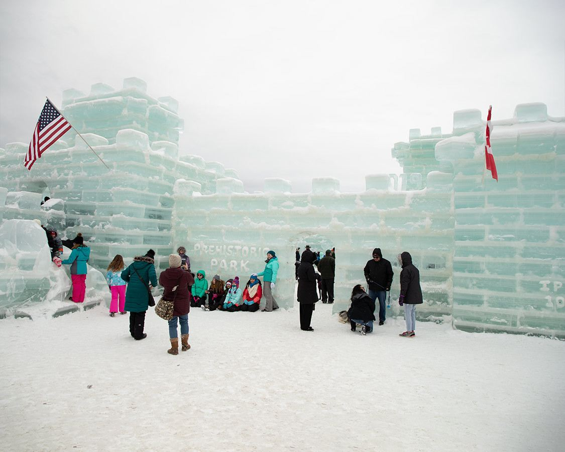 Saranac Lake Ice Palace at the Winter Carnival