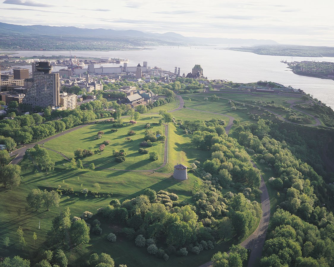 Things to do in Quebec City Plains of Abraham Aerial View