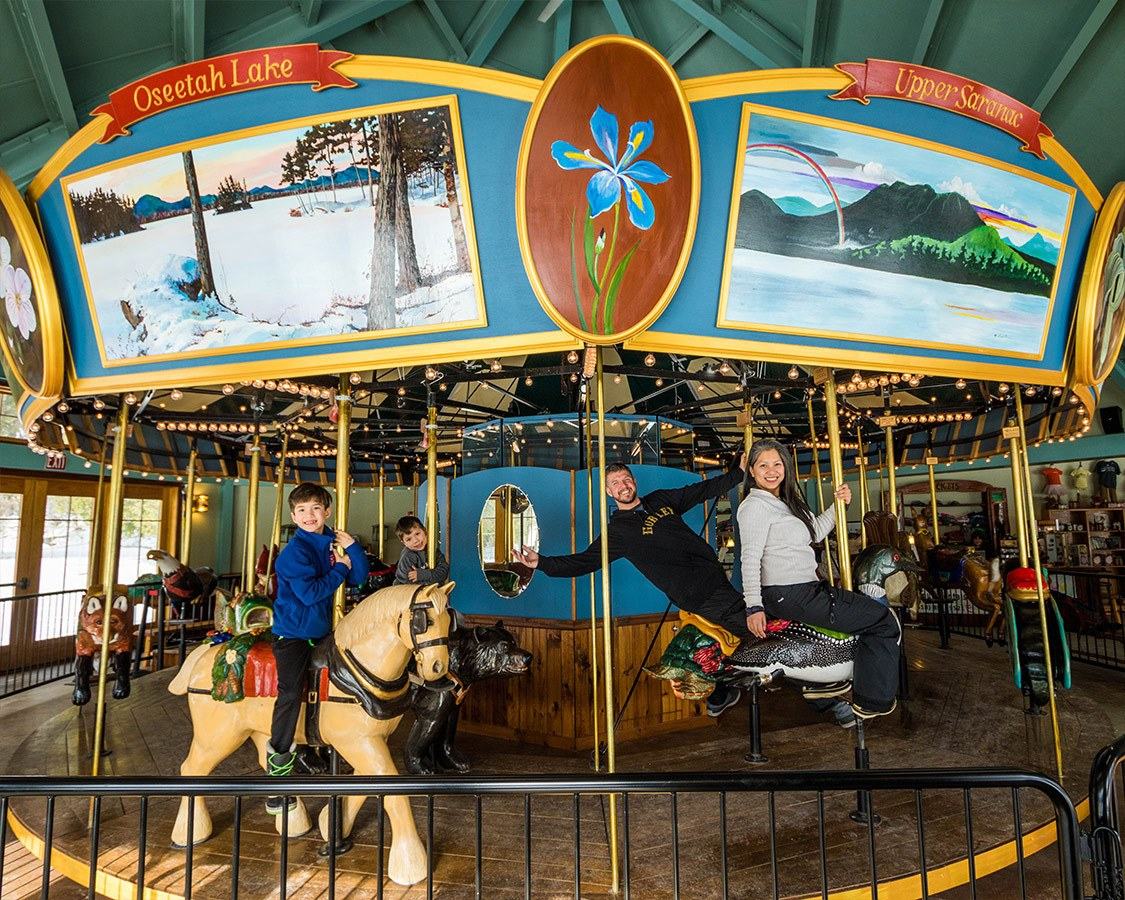 Winter Adirondack Carousel Saranac Lake