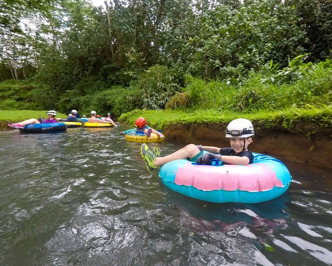 Kauai Backcountry Adventures mountain tubing with kids in Kauai