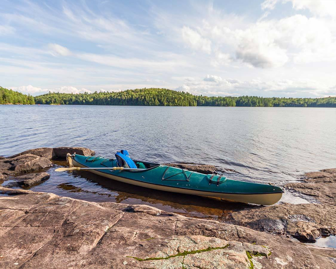 Silent Lake Provincial Park Canoe and fishing