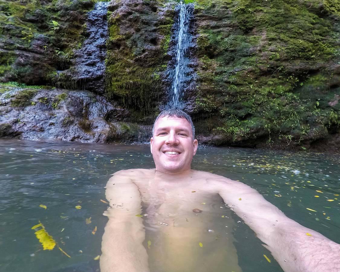 Kauai mountain tubing swimming