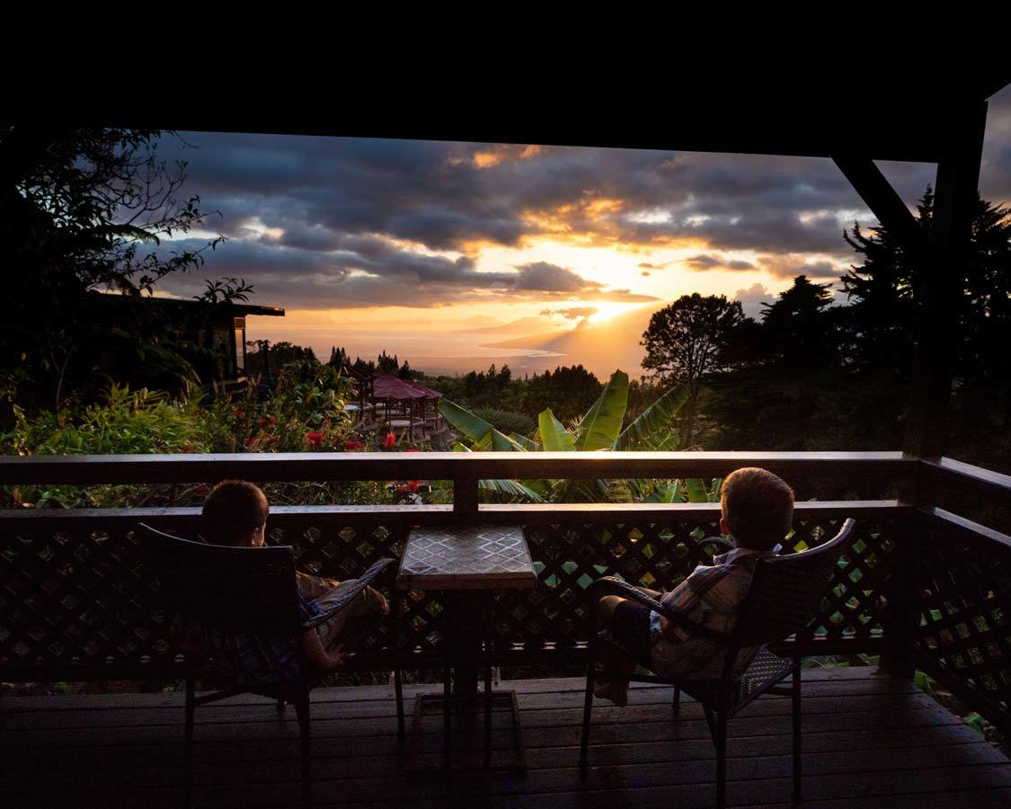 Kula Lodge Sunsets In Maui For Kids