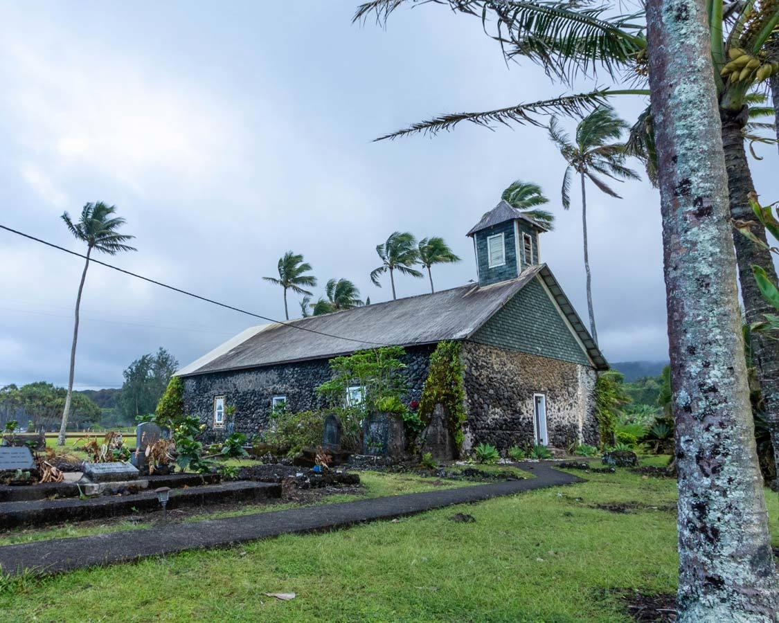 church in Malame Keanae Road To Hana site