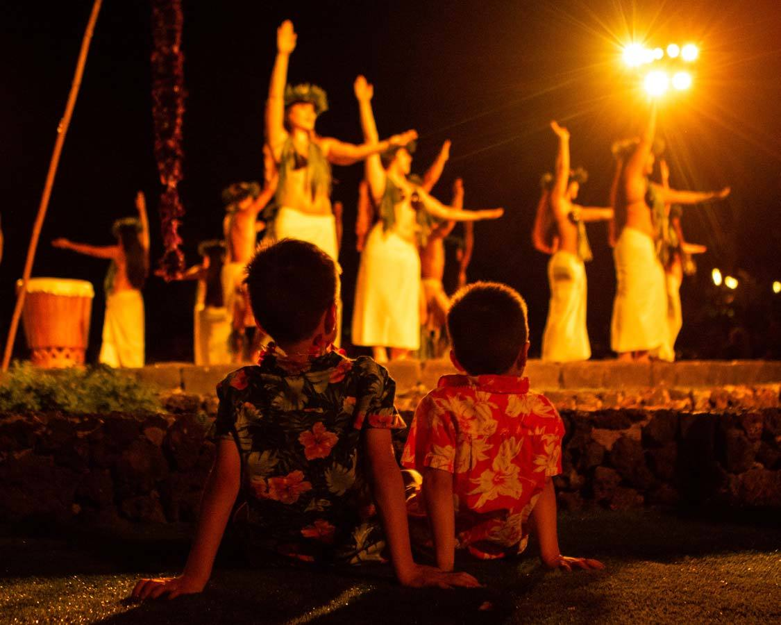 Old Lahaina Luau with kids in Maui