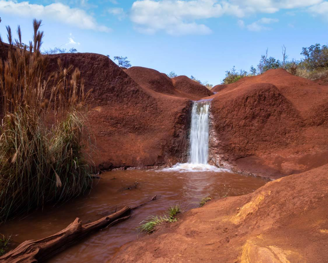 Red Dirt Waterfall Waimea Canyon State Park