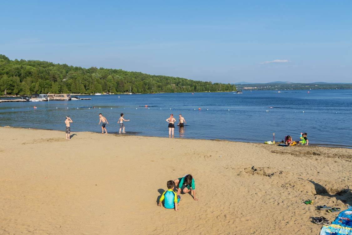Baie Des Sables Beach In Piopolis Quebec