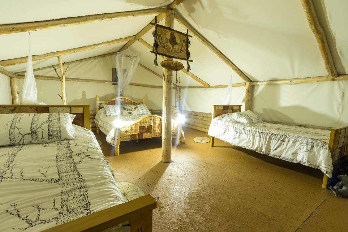 Frontier accommodations at Amishk Adventures near Montreal