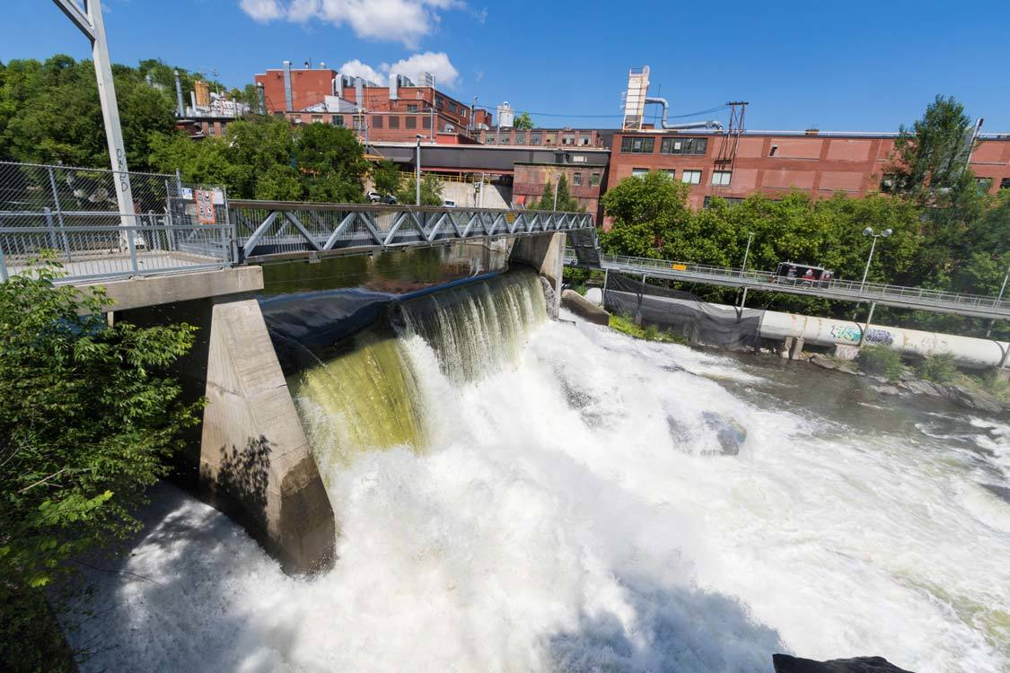 Mill Dam in Sherbrooke Quebec Things To Do