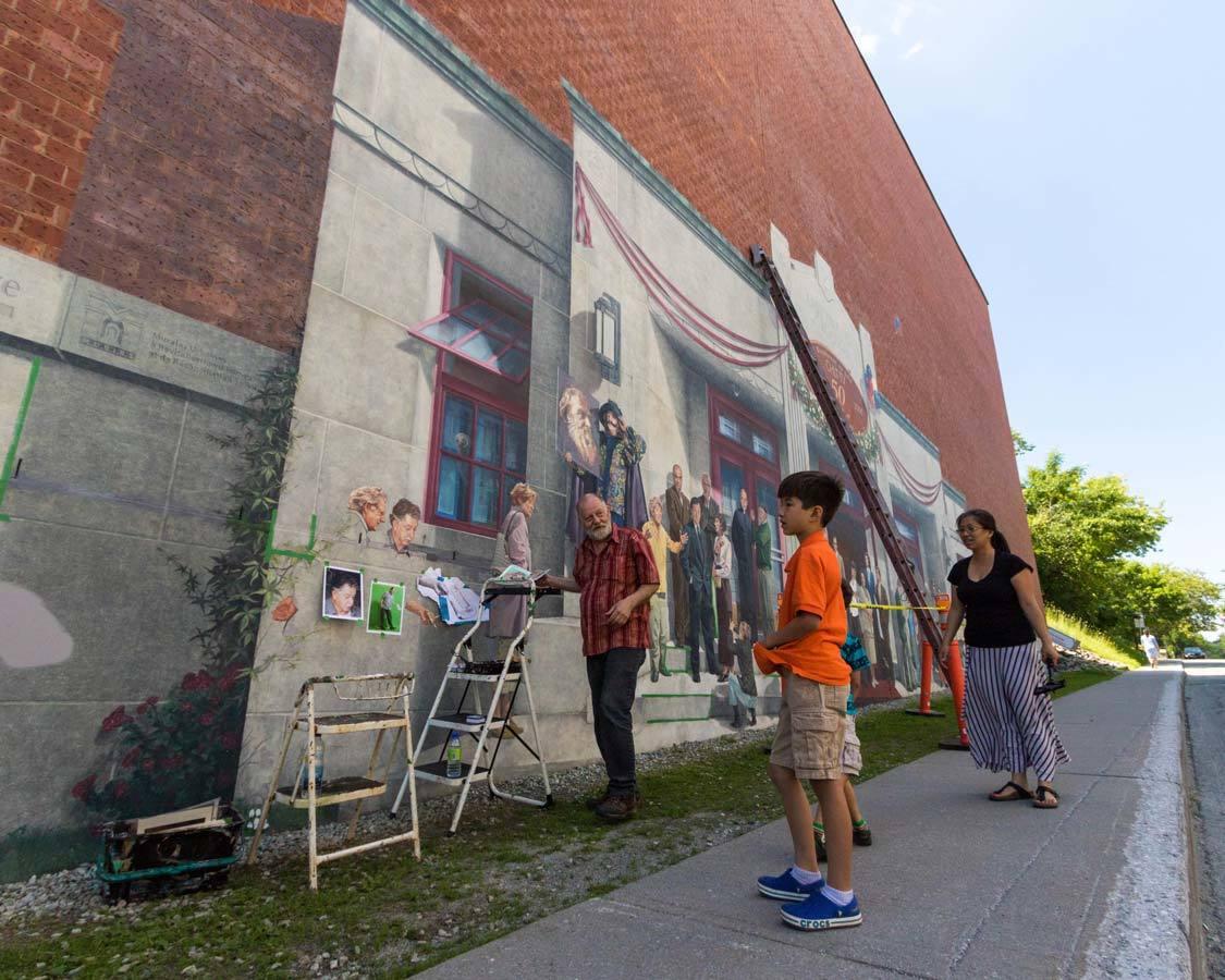 Murals in Sherbrooke Quebec
