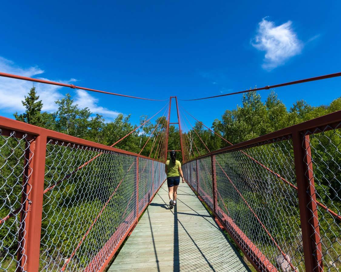 Whiteshell Suspension Bridge What to do in Whiteshell Provincial Park