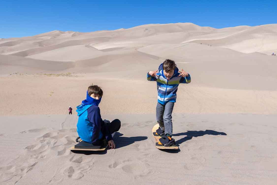 Sandboarding in Colorado for families