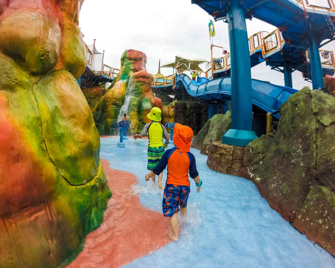 Volcano Bay with Toddler Reef play area