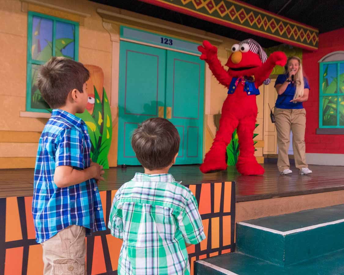 Busch Gardens with small children Sesame Street Show