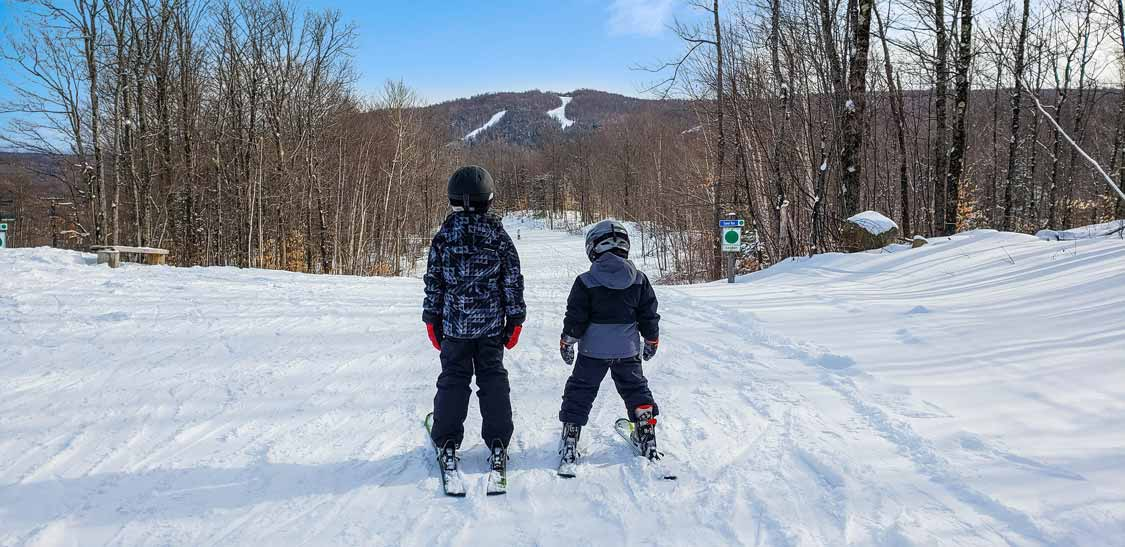 Kids on a ski vacation in New York State