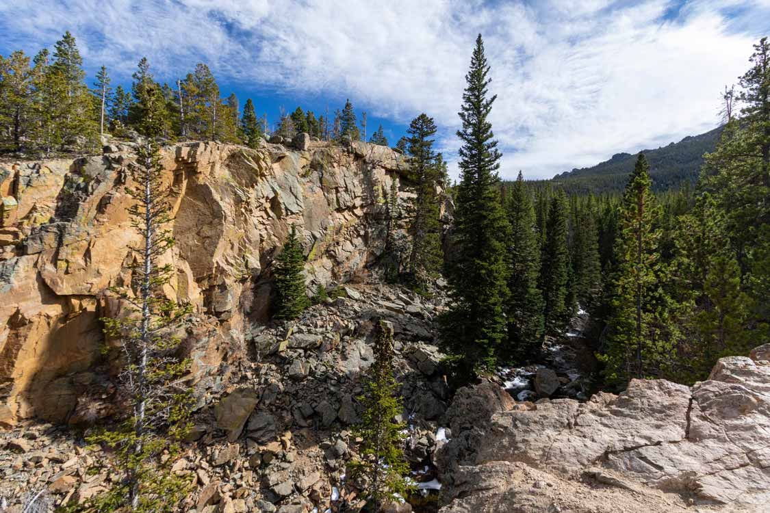 Alberta Falls Gorge at Rocky Mountain National Park