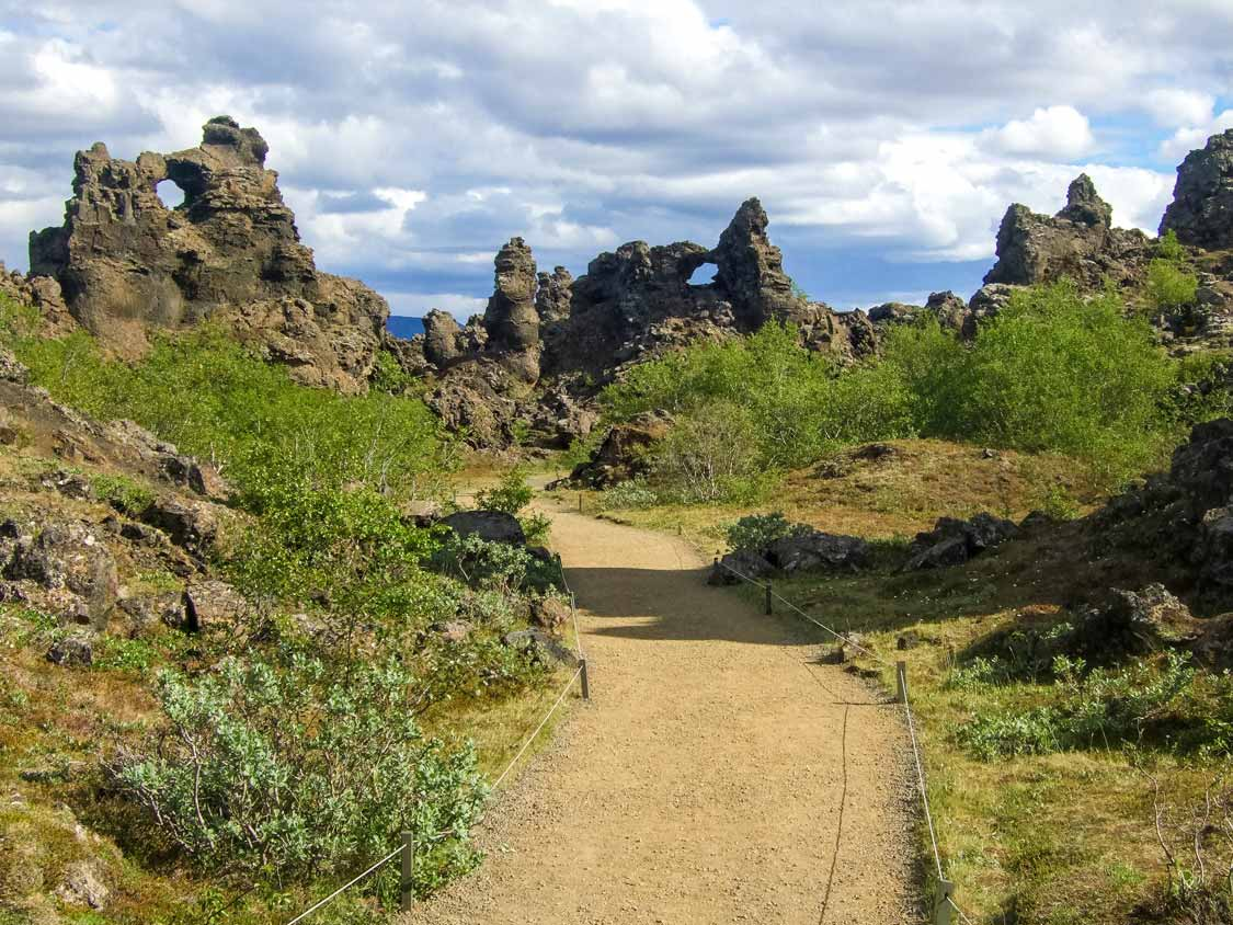 Dimmuborgir Dark Castles In Myvatn Iceland