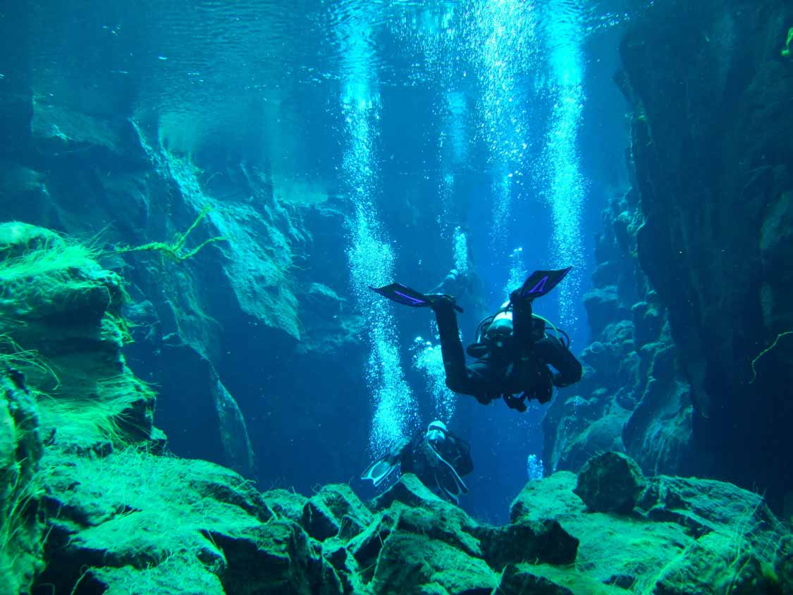 SCUBA Diving in Silfra Iceland places to visit