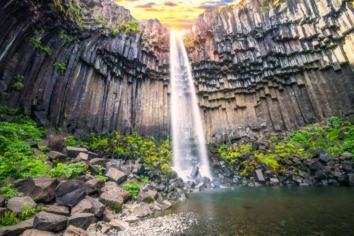 Svartifoss One Of The Most Beautiful Waterfalls In Iceland
