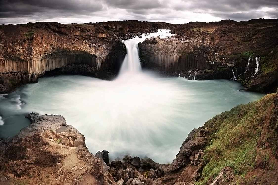 The best waterfalls in Iceland Aldeyjarfoss long exposure