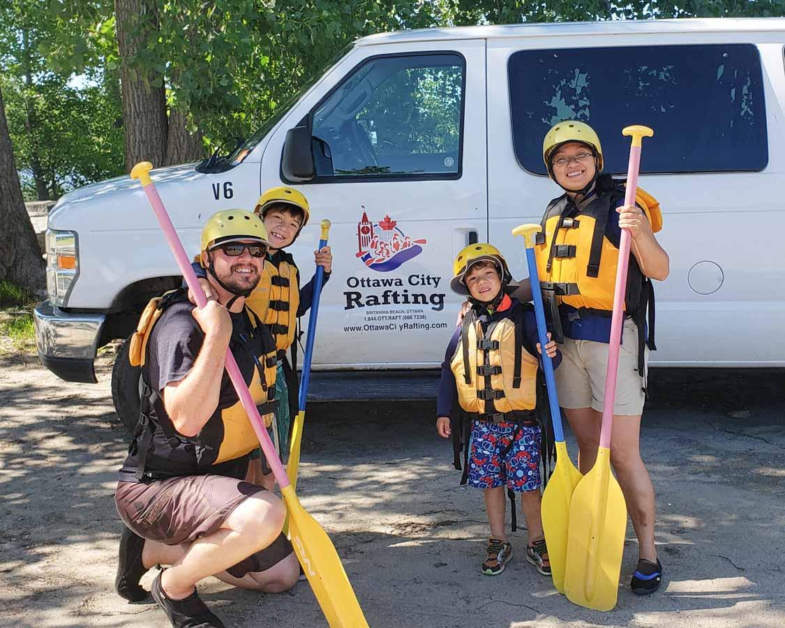 family friendly white water rafting in Ottawa