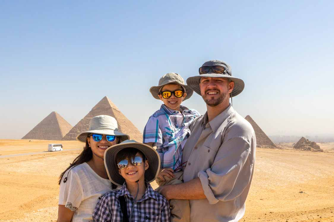 How To Visit The Giza Pyramids with kids