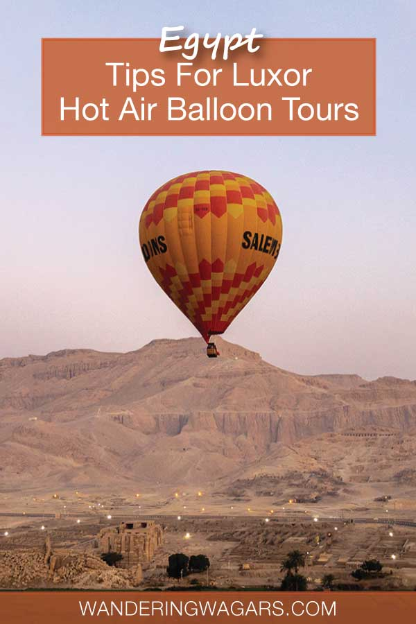Tips For Luxor Hot Air Balloon Tours