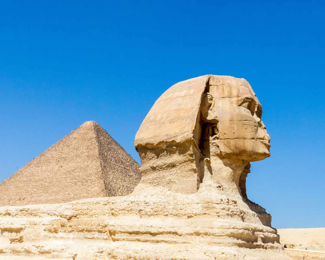 The Great Sphinx in Giza Egypt