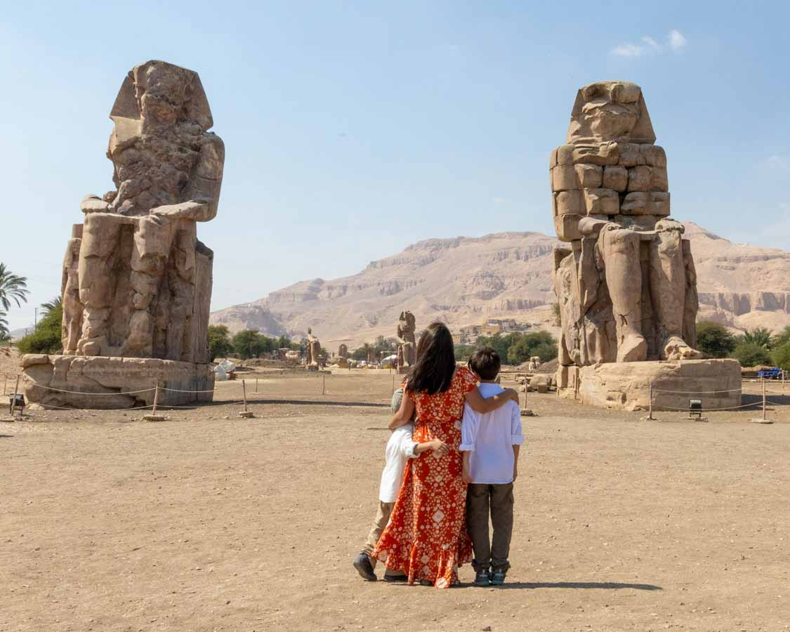 Colossi of Memnon things to see in Luxor Egypt